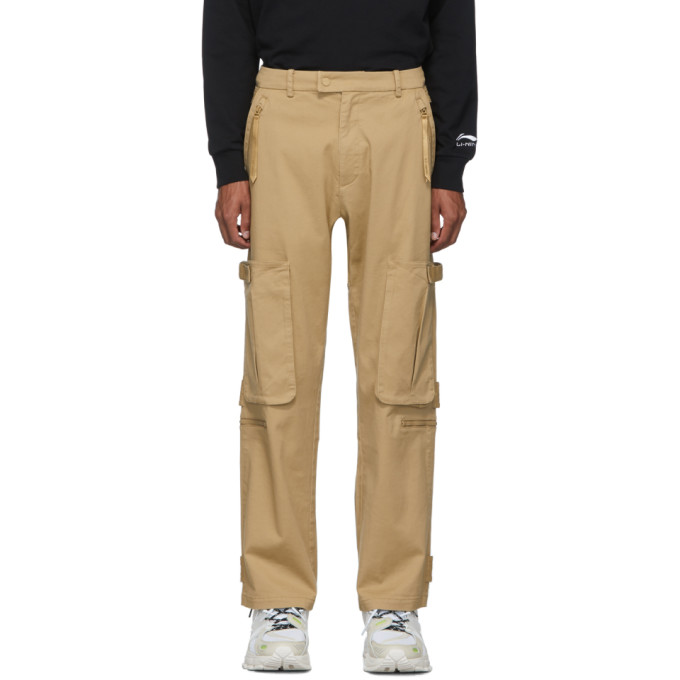 Li-Ning Pantalon cargo brun clair Loose Fit
