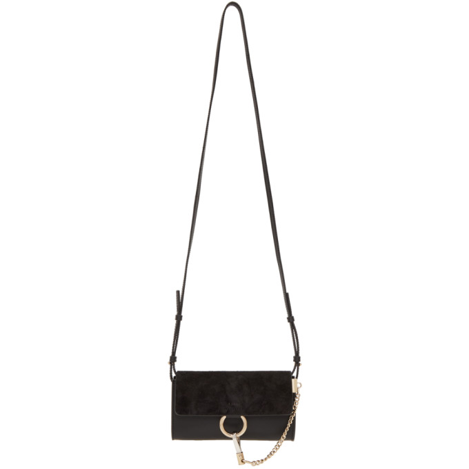 CHLOÉ | Chloe Black Faye Wallet Bag | Goxip