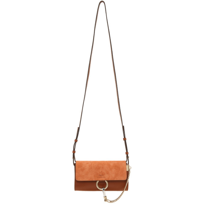 CHLOÉ   Chloe Brown Faye Wallet Bag   Goxip