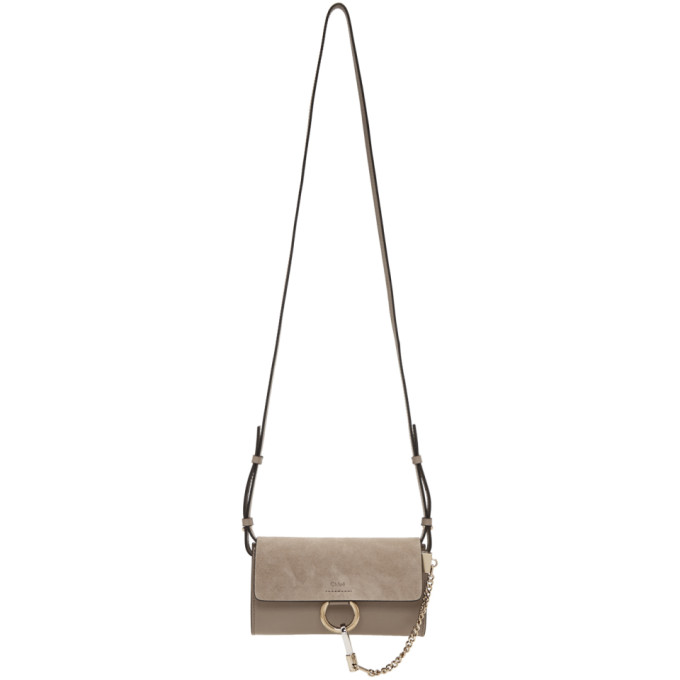 CHLOÉ | Chloe Grey Faye Wallet Bag | Goxip