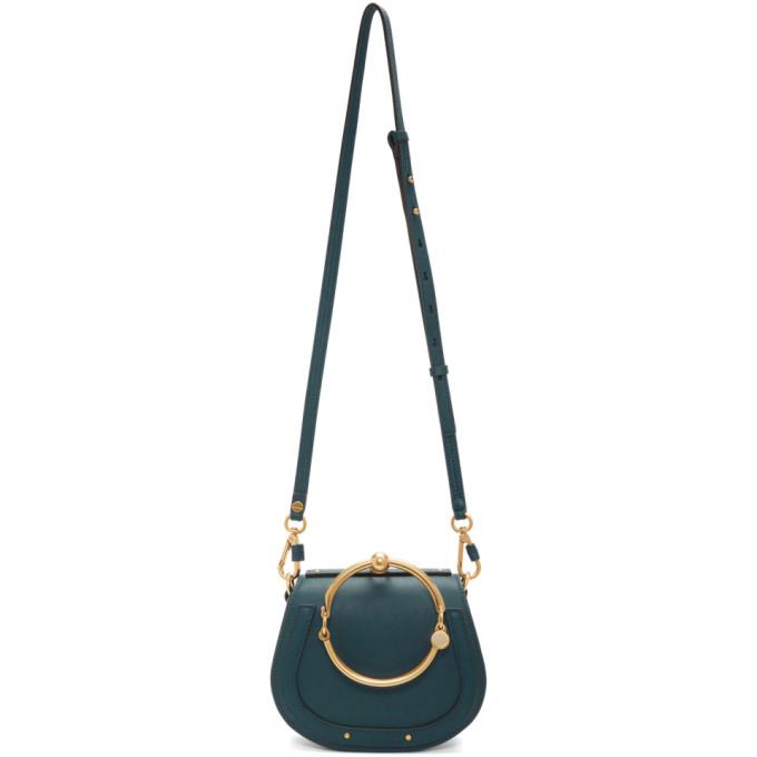 CHLOÉ | Chloe Navy Small Nile Bracelet Bag | Goxip