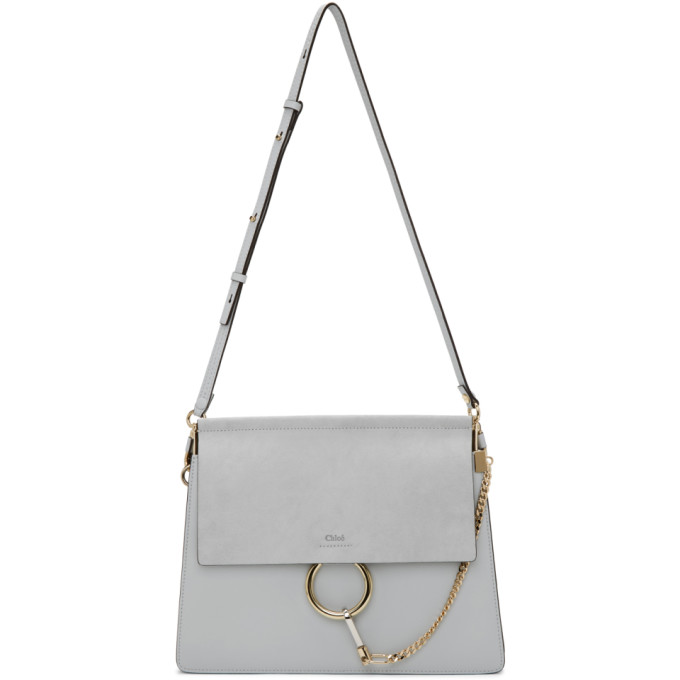 CHLOÉ | Chloe Grey Medium Faye Bag | Goxip