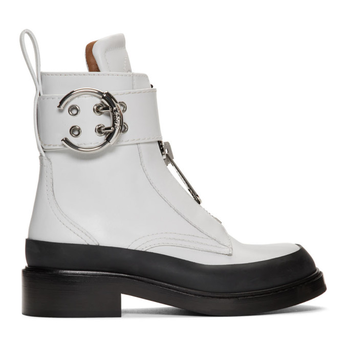 Chloe White Roy Ankle Boots
