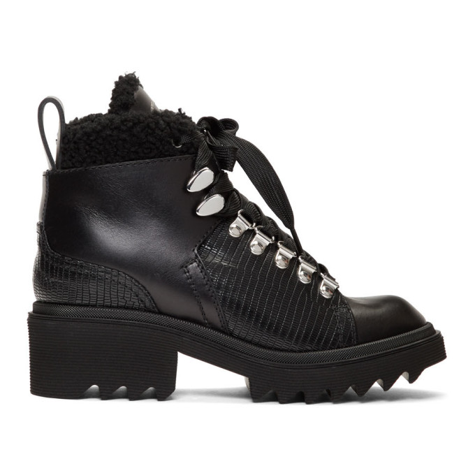 Chloe Black Shearling Bella Mountain Boots