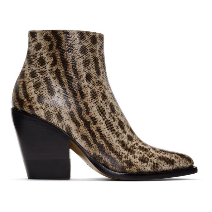 Chloe Beige Snake Rylee Boots