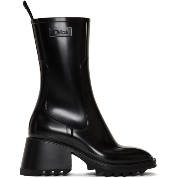 Chloe Black PVC Betty Rain Boots