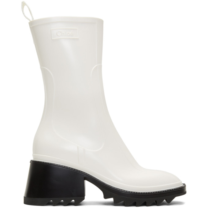 Chloe White Betty Rain Boots