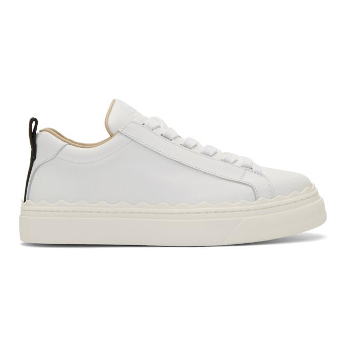 Chloe White Lauren Sneakers