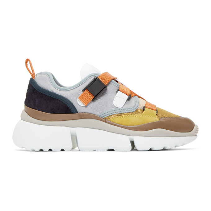 Chloe Grey Sonnie Low-Top Sneakers