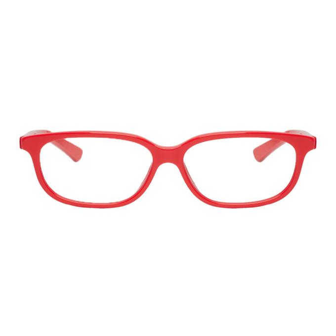 Balenciaga Cases BALENCIAGA RED RECTANGULAR CAT-EYE GLASSES