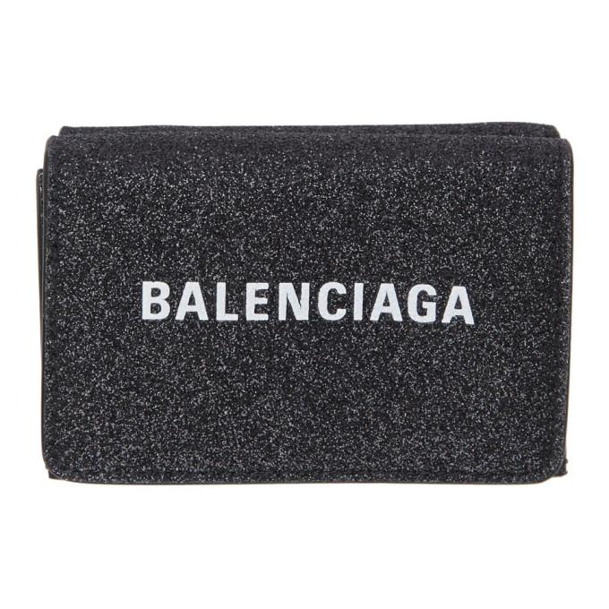 Balenciaga ブラック シマー ミニ エブリデイ ウォレット