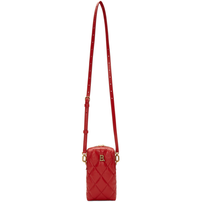 Balenciaga Red B. Touch Rectangle Bag In 6406 Bright