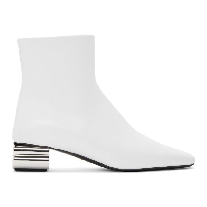 Buy Balenciaga White Typo 40mm Boots online