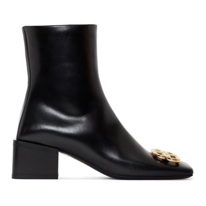 Balenciaga Black Double Square BB Lux Boots