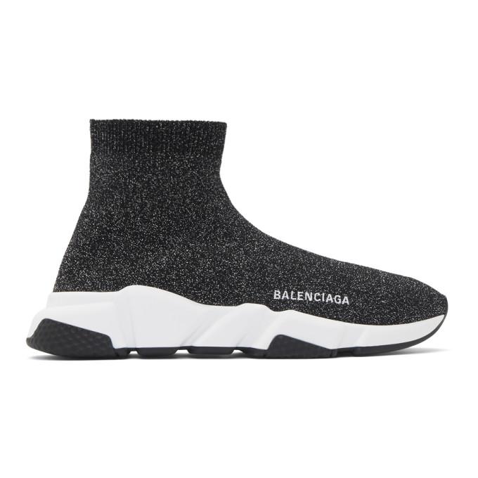 Balenciaga Black Lurex Speed Sneakers