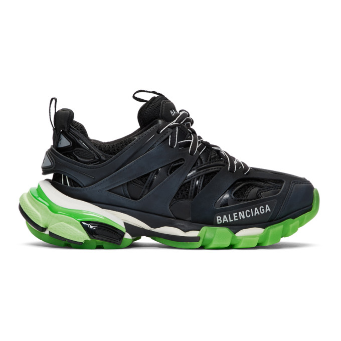 561b6f6fd9 Balenciaga Womens Track Nylon And Mesh Trainers In 1003 Blk/Gl ...