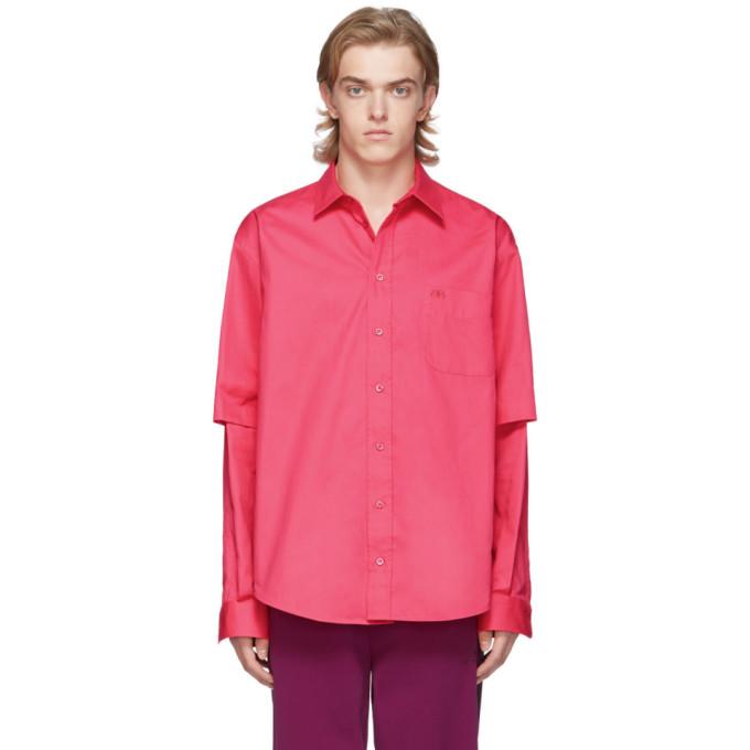 Balenciaga Pink Double Sleeve Shirt