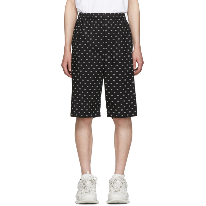 BALENCIAGA | Balenciaga Black And White BB Boxer Shorts | Goxip