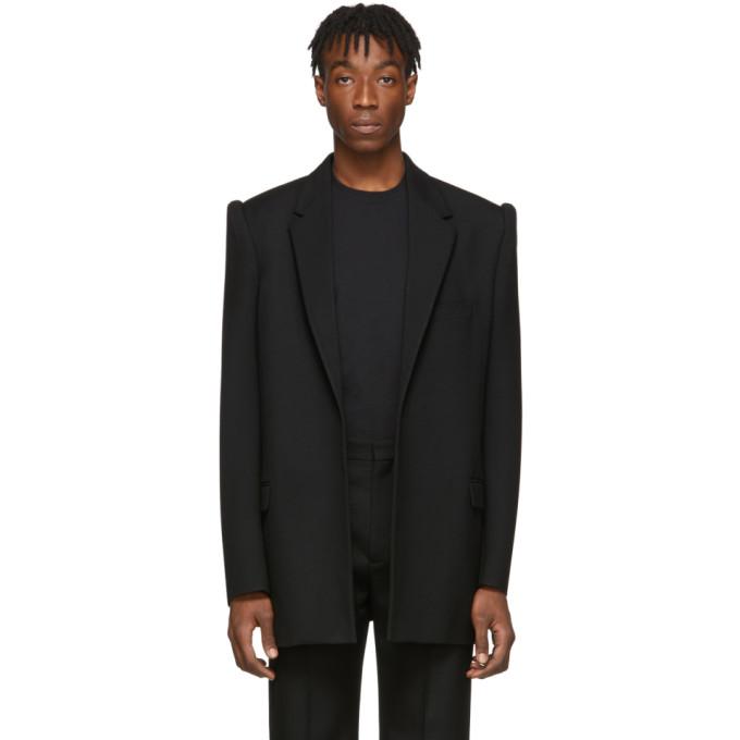 Balenciaga Black Suspended Shoulder Jacket