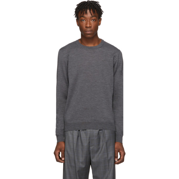 Balenciaga グレー ファイン ウール セーター