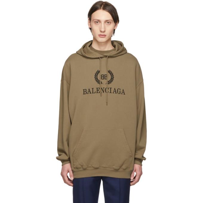 BALENCIAGA   Balenciaga Tan BB Hoodie   Goxip