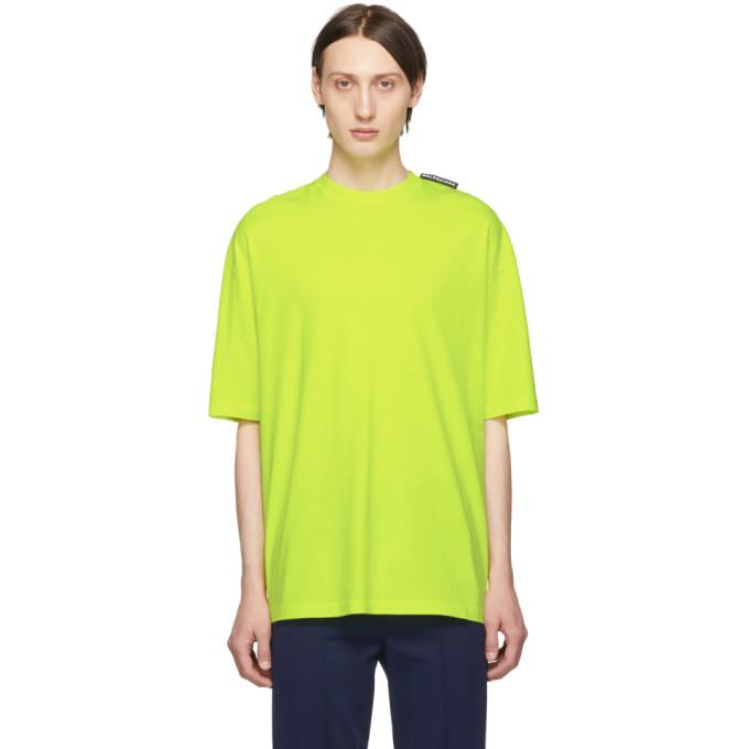 BALENCIAGA | Balenciaga Yellow Logo Tab T-Shirt | Goxip