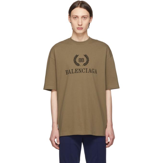 BALENCIAGA | Balenciaga Tan BB T-Shirt | Goxip