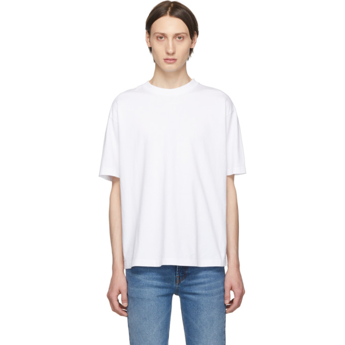 BALENCIAGA | Balenciaga White Logo T-Shirt | Goxip