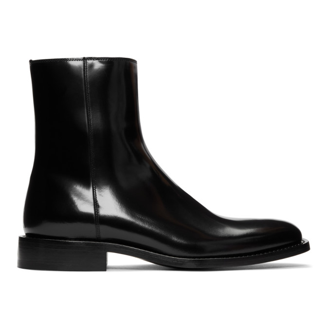 BALENCIAGA | Balenciaga Black Rim Boots | Goxip