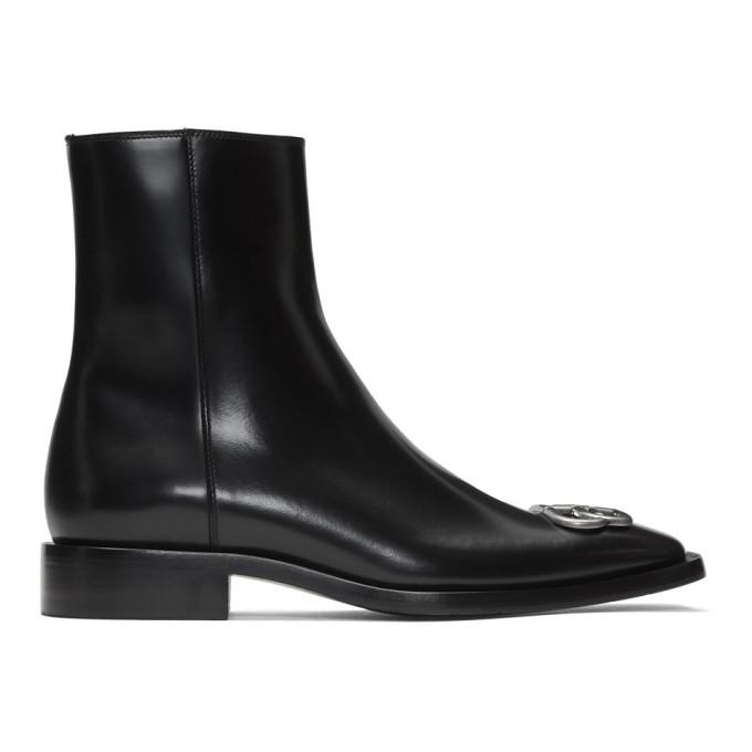 Balenciaga Black Rim BB Zipped Boots