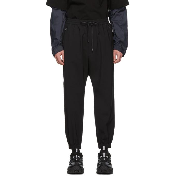 Juun.J Black Wool Plain Trousers