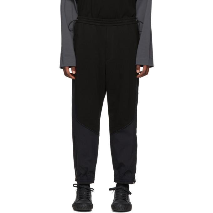 Juun.J Pantalon de survetement noir Plain