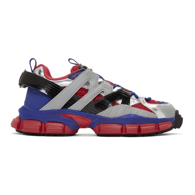 Juun.J Baskets rouges et bleues Strap