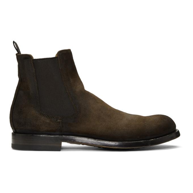 Officine Creative Brown Suede Tempus 16 Chelsea Boots