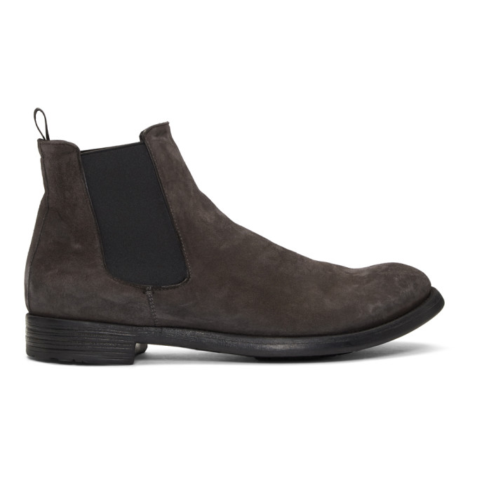 Officine Creative Grey Hive 007 Chelsea Boots