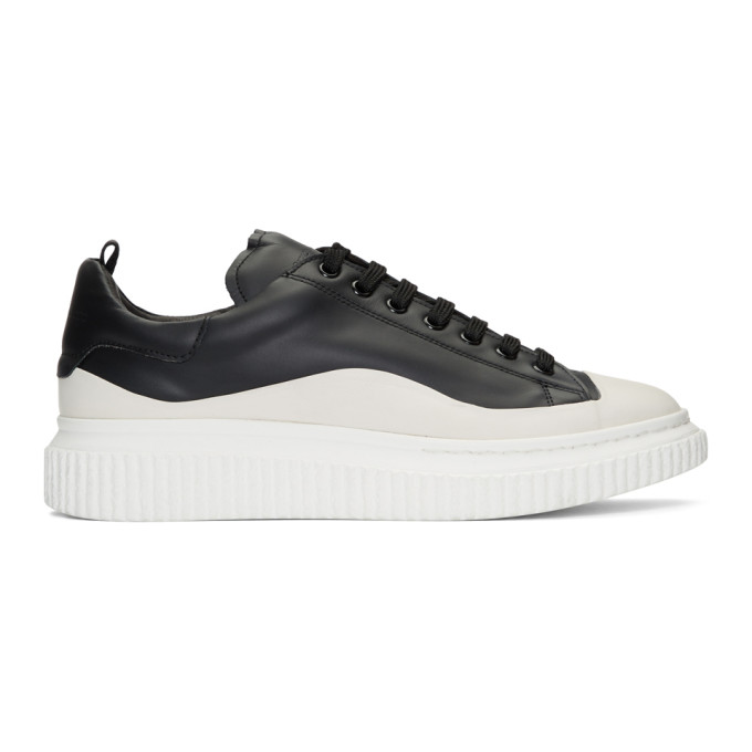 Officine Creative Black and White Krace 8 Sneakers