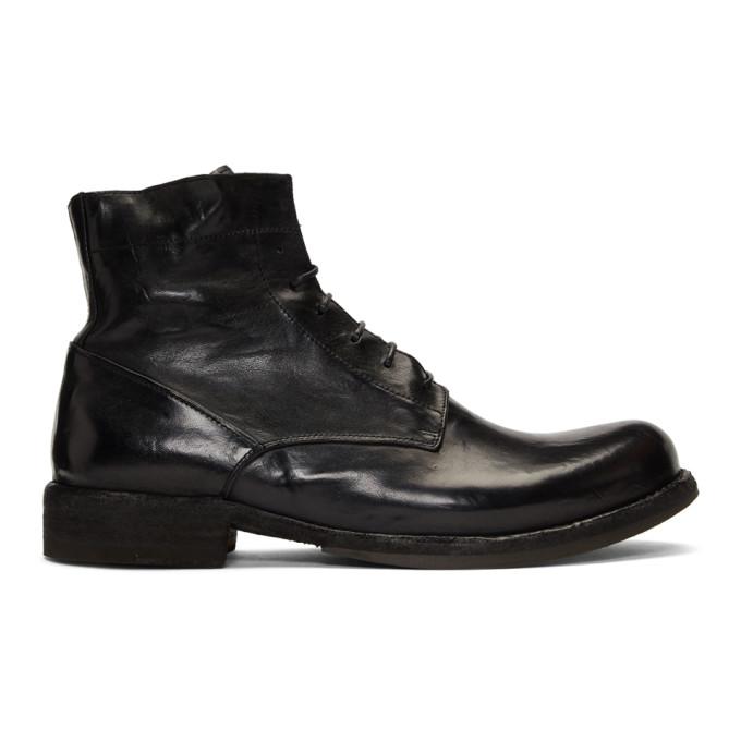 Officine Creative Black Ikon Boots