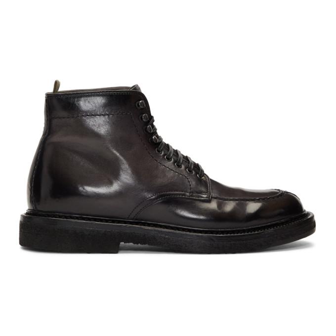 Officine Creative Grey Stanford 207 Boots
