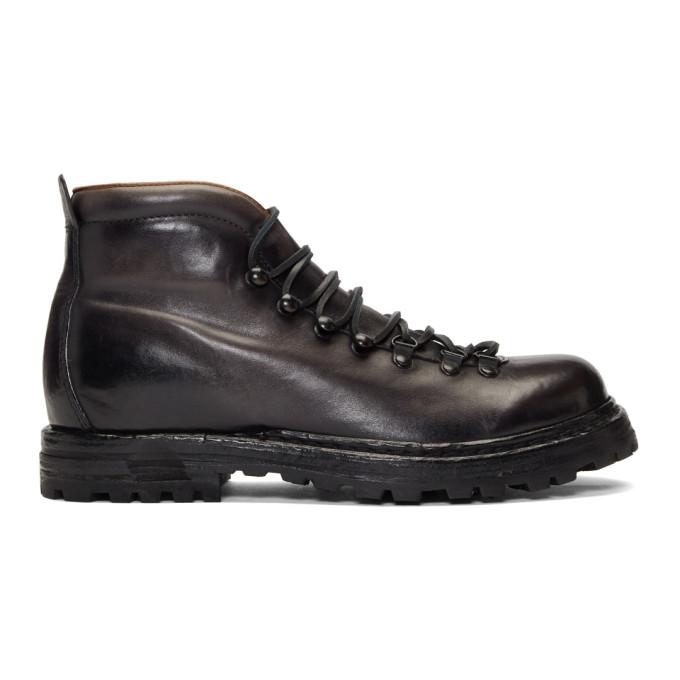 Officine Creative Black Kontra 003 Boots