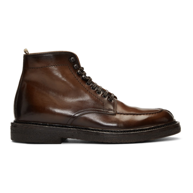 Officine Creative Brown Stanford 207 Boots