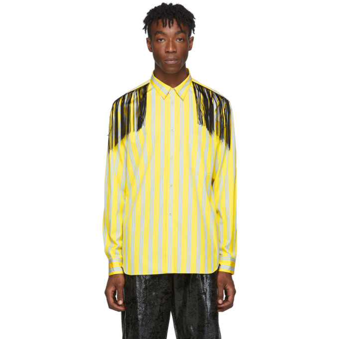 Comme des Garcons Homme Plus Yellow Fringed Shirt