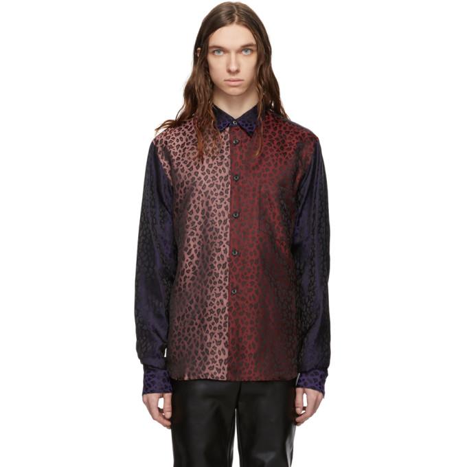 Comme Des Garçons Homme Deux T-shirts COMME DES GARCONS HOMME PLUS MULTICOLOR JACQUARD LEOPARD SHIRT