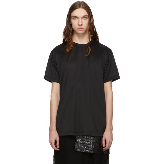 Comme Des Garçons Homme Deux T-shirts COMME DES GARCONS HOMME PLUS BLACK JERSEY FOIL PRINT C T-SHIRT