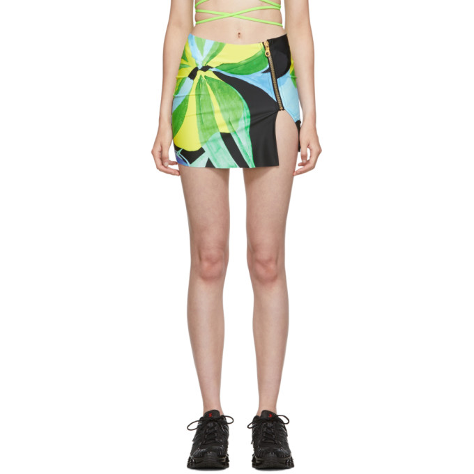 Louisa Ballou Mini-jupe en Lycra multicolore exclusive a SSENSE
