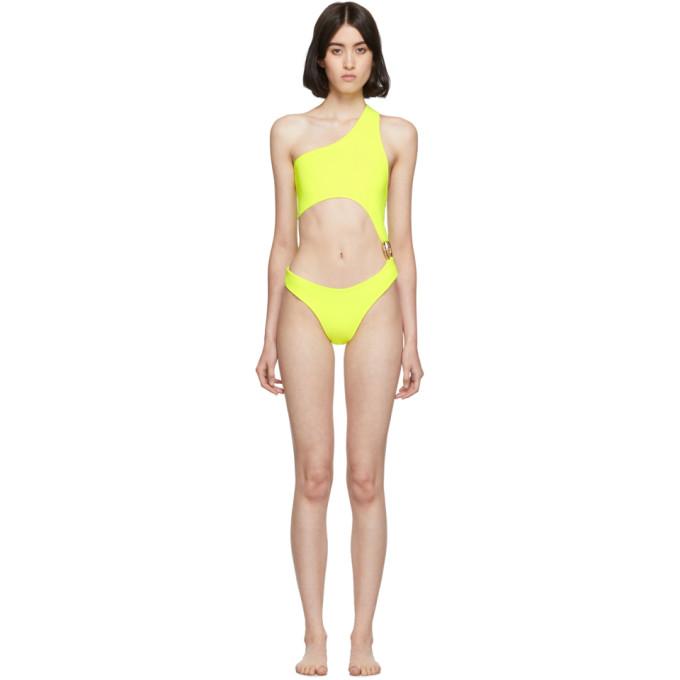 Louisa Ballou Maillot de bain une piece jaune Surf Trip exclusif a SSENSE