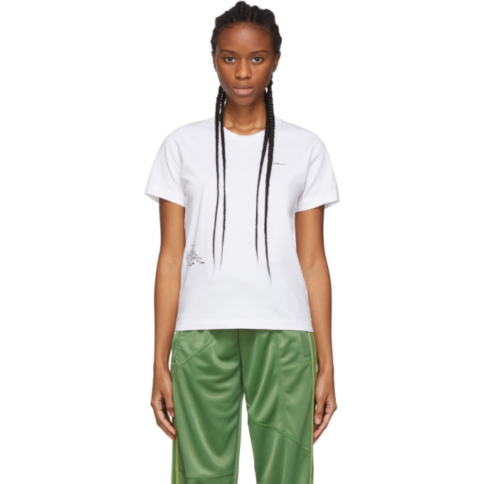 Danielle Cathari T-shirt blanc Cartoon exclusif a SSENSE