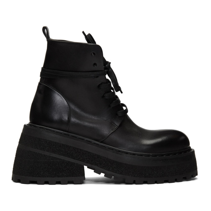Marsell Black Carreta Anfibio Boots