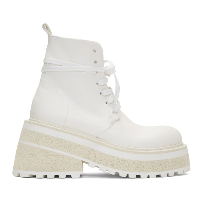 Marsell White Carreta Anfibio Boots