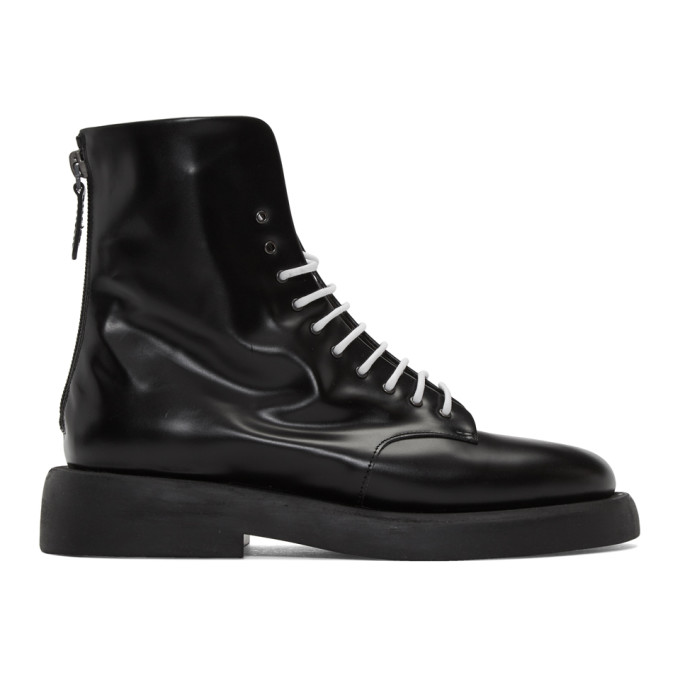 Marsell Black Gomme Polacchino Gommello Boots
