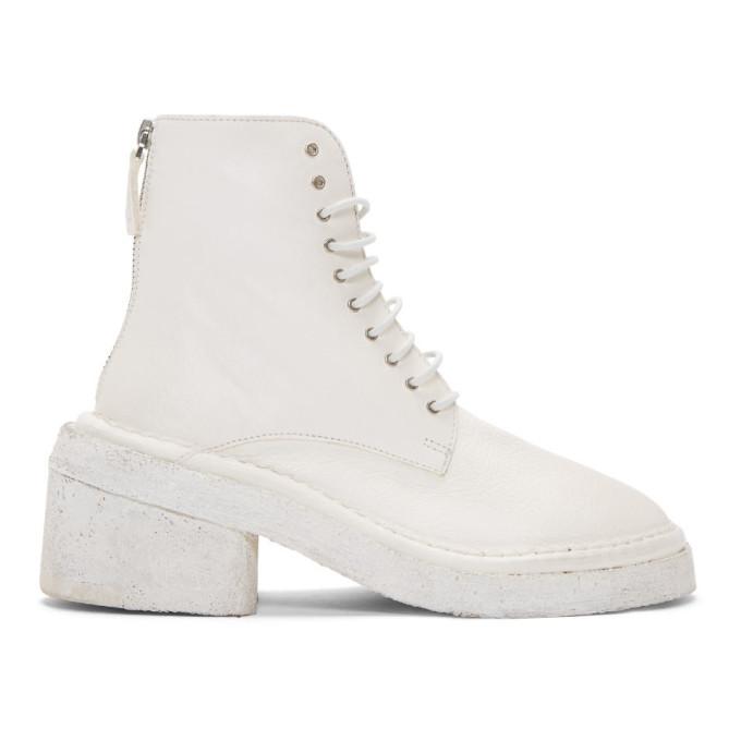 Marsell White Burraccio Polacchino Boots